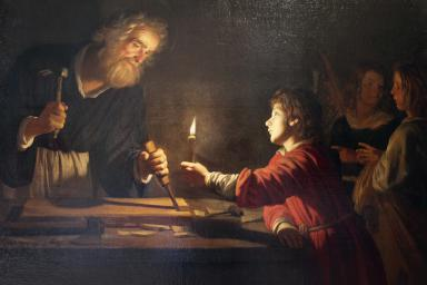 'Childhood of Christ', c1620. Artist: Gerrit van Honthorst