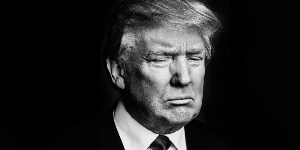Black And White Photo Donald Trump
