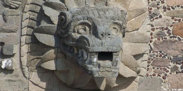 Kukulkan (Maya) or Quetzalcoatl (Aztec) the mythological feathered serpent